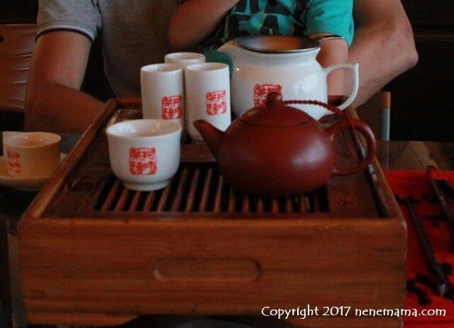 阿妹茶楼の台湾茶セット