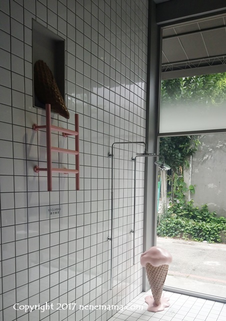 """I'm Talato""店内のアイスとシャワー"