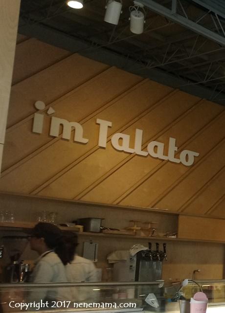 """""""I'm Talato""""店内"""