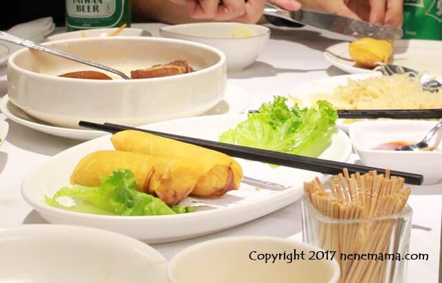 台北の梅子餐廰の春巻き