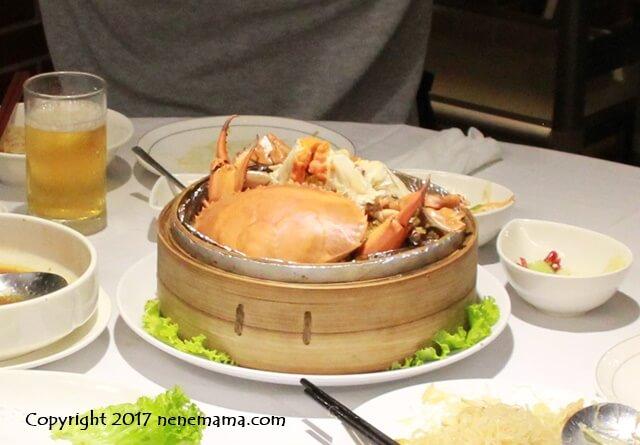 台北の梅子餐廰の蟹おこわ
